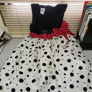 Girls Party Dress Tulle Black and White